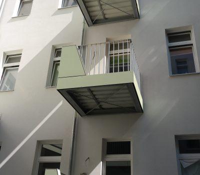 balkon, geländer, handläufe