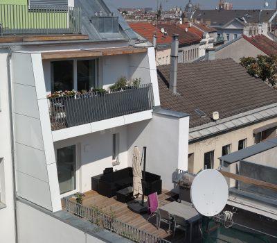 dachausbau, geländer, balkone
